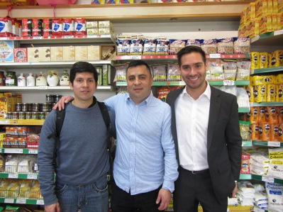 David, Cesar and Juan Carlos at the Chatica shop