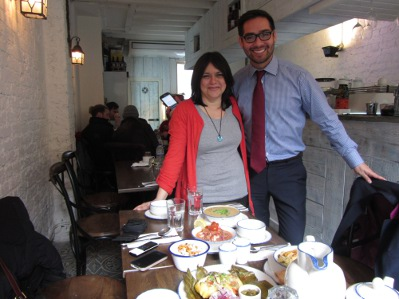 Jenny and Juan Carlos -happily dining at Tostado!